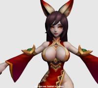 手游《王者荣耀》人物3d角色模型大全 max源文件及贴图