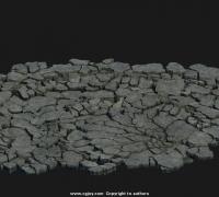 石头地面地裂碎石