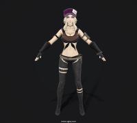 嗜血代碼 Coco角色模型 有T-pose 全貼圖