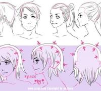 画动漫人物头发步骤是什么?
