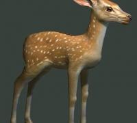 我自己做的中面小鹿模型~希望大家喜欢!