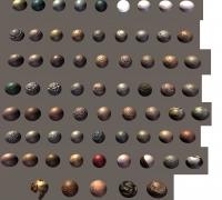 Unity3D材質包,700多種材質球