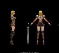 欧美风格女战士,贴图1024*1024,高品质,可用于商用
