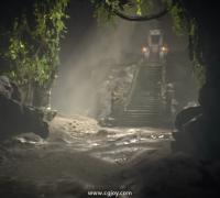虛幻電影大賽參賽作品 BalineseTemple
