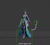 临摹的一个女仙侠出场+源文件