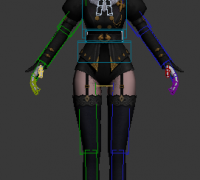 3d角色模型写实overhit_kamael模型有贴图带cs骨骼skin绑定3dmax