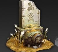 石碑模型贴图源文件