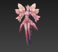 分享一個花仙子模型,免費拿,還有自己做的待機,新手做的,不好請見諒