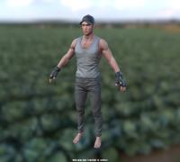 写实男性,CS骨骼绑定,版本为2016.