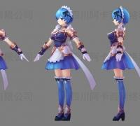 3D手繪角色模型、次世代模型、動作【四川阿卡西】有檔期啦