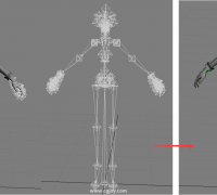 fbx蒙皮转bip蒙皮方法【1080p视频】-fbx动画转bip动画-bone转bip
