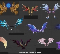 翅膀带动画 游戏风格