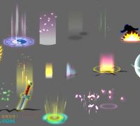 flash特效,技能特效,升级动画
