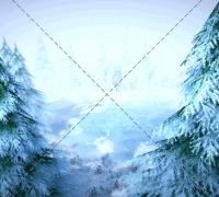 unity3d冬季雪地雪山场景森林植物带雪树木雪景自然环境模型素材