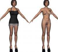 大量 美女 裸体 模型 裸模 (图仅为其中一个)各种格式