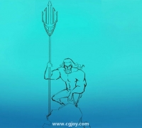 手把手板绘教程!教你画海王插画绘制步骤?。。?!