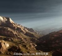 3dmax高精度低面数地形快速建模视频教程