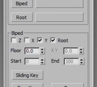 biped 位移转移到 Root 工具