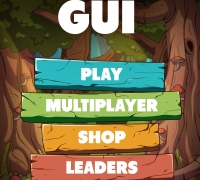 Q版卡通手游戏界面UI设计素材