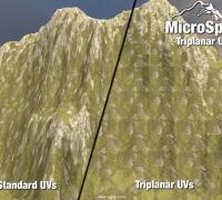 Unity地形UV工具 MicroSplat Triplanar UVs