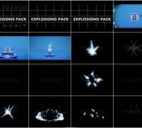 15个自带音效和透明通道的二维卡通爆炸视频素材