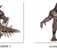早期做的怪兽模型obj文件含法线贴图