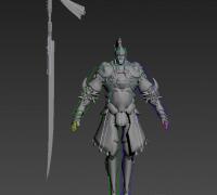 骑士模型,带个攻击动画