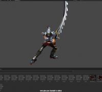 lol英雄联盟无极剑圣易大师铁血剑豪全套动作模型