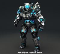 3dmax次世代未来科幻机器人八十八带600帧动画