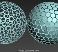 规则六边形几何球体创建方法