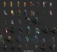 200个写实玄幻类角色3D模型 无绑定 带姿势