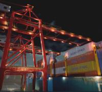 贸易集装箱港口场景