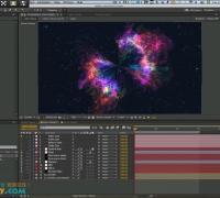 用AE制作蝴蝶形宇宙空间视频教学
