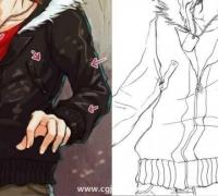 【精華】衣服褶皺怎么畫?漫畫中人物衣服褶皺的畫法!