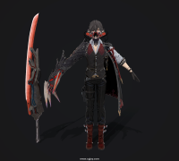 嗜血代码code_vein_louis 模型,有FBX MAX 带T-pose 全贴图