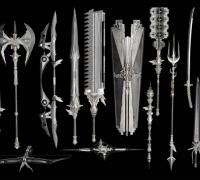 一套写实精致高级皇家武器(含fbx和xps格式)