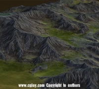 Maya VS WorldMachine高精度低面数真实地形建模视频教程