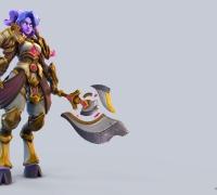 风格化羊角女战士