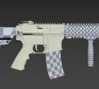 练习做得M4模型