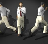 男人跑步姿势模型参考