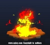 AE制作2D火堆动画教程