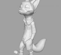 【3d打印机模型】疯狂动物城中的狐尼克