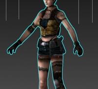 网络游戏女角色模型(MAX格式)