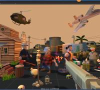 unity资源之Q版射击游戏角色(带动作)武器建筑Mobile Cartoon Model Pack
