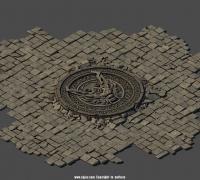地面装饰-石头-地砖-带花纹地砖-