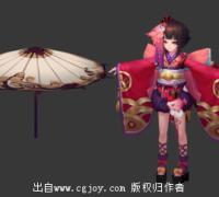 【YYS】神乐模型下载(带绑定)