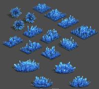 石头水晶地面 精致的水晶 水晶堆