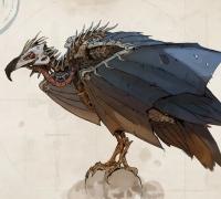 俄罗斯的概念设计师原画作品 昆虫、动物与机械
