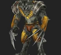 狼人的6个一套动画。