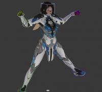 蒙皮绑定《运星一号》Ascendant One 角色:hebe模型